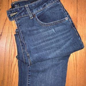 Fashion Nova High Rise Jeans - Dark Denim